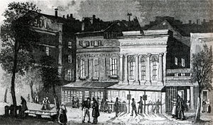 Théâtre des Folies-Dramatiques - Théâtre des Folies-Dramatiques (c. 1835) on the Boulevard du Temple