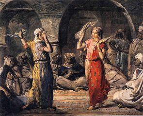 Danseuses marocaines. La Danse aux mouchoirs