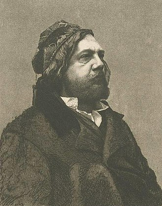 Poor Dionis - Gautier in Oriental clothes, 1857 etching by Félix Bracquemond