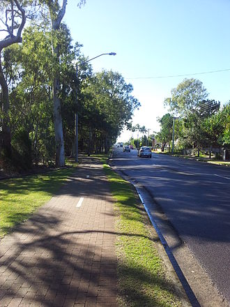 Hervey Bay - The Esplanade, leading to Urangan from Hervey Bay