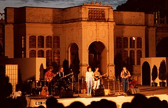 The Albion Band - The 1983 incarnation of The Albion Band in an outdoor concert at Holland House, London, summer 1983