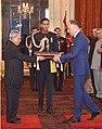 The Ambassador-Designate of Hungary, Mr. Szilveszter Bus presenting his credential to the President, Shri Pranab Mukherjee, at Rashtrapati Bhavan, in New Delhi on December 09, 2014.jpg