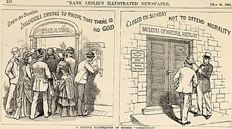 Robert G. Ingersoll - How dreadful, that buyers flock to Ingersoll's box office on Sunday, when the American Museum of Natural History is respectfully closed