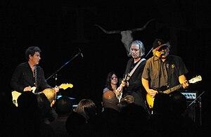 The Baseball Project - The Baseball Project, 2011 (left to right: Steve Wynn, Linda Pitmon, Peter Buck, and Scott McCaughey)