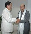 The Chief Minister of Sikkim, Shri Pawan Kumar Chamling calls on the Union Minister of Steel, Shri Virbhadra Singh, in New Delhi on June 16, 2009.jpg