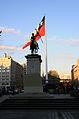 The Chilean Flag and the Statue of José de San Martín, Santiago (5142852508).jpg