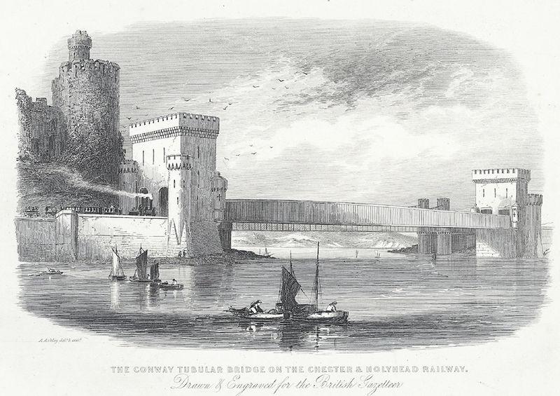 File:The Conway Tubular Bridge on the Chester & Holyhead railway.jpeg