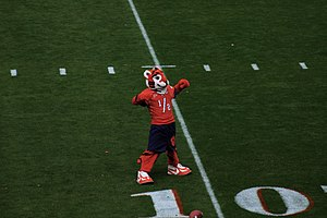 The Tiger (mascot) - The Cub at a 2005 football game