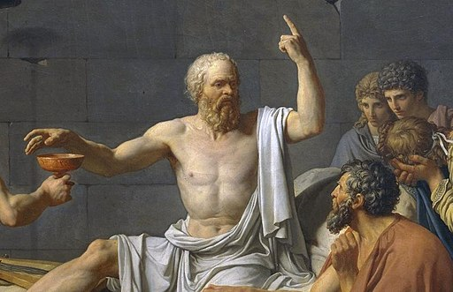 The Death of Socrates cropped