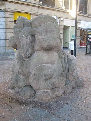 The Derby Ram - Representation of the ram in East Street, Derby
