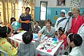 The First lady of USA, Ms. Laura Bush visits Mother Teresa Light of Life Home (Jeevan Jyothi) for disabled children, in New Delhi on March 2, 2006.jpg