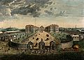 The Foundling Hospital, Holborn, London; a bird's-eye view o Wellcome V0013461.jpg