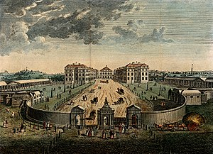 Foundling Hospital - 1753 engraving of the Foundling Hospital building, now demolished