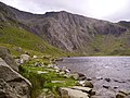 The Idwal Slabs seen across Llyn Idwal - geograph.org.uk - 1284324.jpg