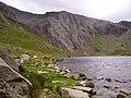 The Idwal Slabs seen across Llyn Idwal - geograph.org.uk - 1284324.jpg