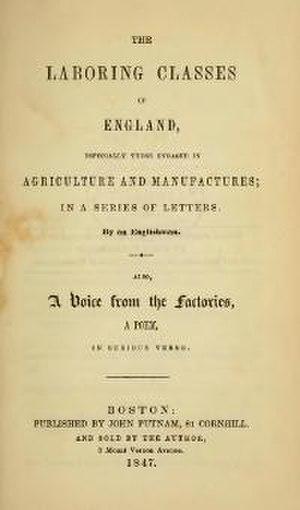 William Dodd (writer) - The Laboring Classes of England
