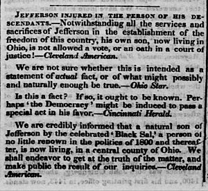 Madison Hemings - 1845 article in The Liberator about the Hemings family in Ohio