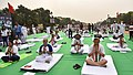 The Lieutenant Governor of Delhi, Shri Anil Baijal, the Minister of State for Civil Aviation, Shri Jayant Sinha and other dignitaries performing Yoga, on the occasion of the 4th International Day of Yoga -2018, at Rajpath (2).JPG