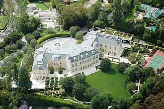 Economic inequality - An affluent house in Holmby Hills, Los Angeles, only miles from downtown (above).