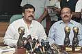 The Minister of State (Independent Charge) for Tourism, Dr. K. Chiranjeevi holding a Press Conference on his visit to World Travel Mart at London, in New Delhi on November 09, 2012.jpg