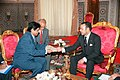 The Minister of State for External Affairs, Shri E. Ahamed in a Royal Audience with the King Mohammed VI of the Kingdom of Morocco in Morocco on May 26, 2005.jpg