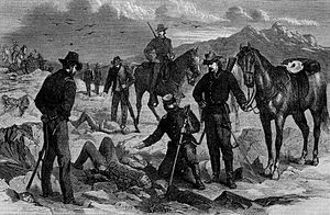 The Modoc War -- Soldiers Recovering the Bodies of the Slain