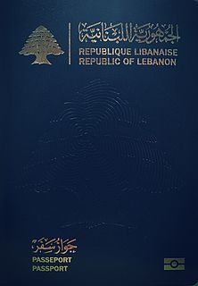 Lebanese passport passport of the Republic of Lebanon issued to Lebanese citizens