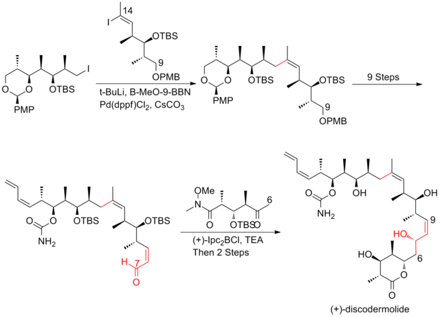 The Novartis 60-g total synthesis of (+)-discodermolide endgame.png