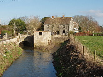 River Cam (Somerset) - File:The Old Mill on the River Cam, West Camel