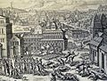 The Phillip Medhurst Picture Torah 173. Simeon and Levi slay Hamor and Shechem. Genesis cap 34 v 25. Borcht.jpg