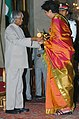The President, Dr. A.P.J. Abdul Kalam presenting Padma Bhushan to Mrs. Indra K. Nooyi, at an Investiture-II Ceremony at Rashtrapati Bhavan in New Delhi on April 05, 2007.jpg