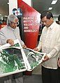 The President Dr A.P.J. Abdul Kalam presented the satellite pictures taken by Indian Satellite Cartosat of various parts of the planet after visiting the Philippine Institute of Volcanology and Seismology (PHILVOCS) to Dr. Renato.jpg