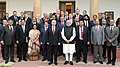 The Prime Minister, Shri Narendra Modi and he President of the Russian Federation, Mr. Vladimir Putin after interaction with the CEOs, in New Delhi on December 11, 2014.jpg