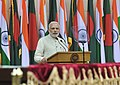 The Prime Minister, Shri Narendra Modi giving his statement to media at the Joint Press Briefing, in Dhaka, Bangladesh on June 06, 2015.jpg