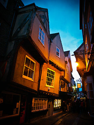 York - The Shambles, a medieval street in York