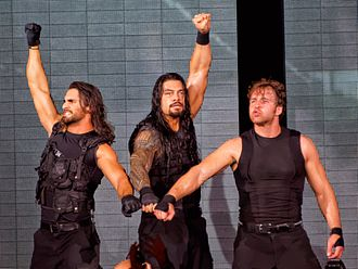 Seth Rollins - The Shield with their signature pose