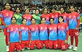 The Silver Medal winning Women team of Bangladesh in the handball event, at the 12th South Asian Games-2016, in Guwahati on February 15, 2016.jpg
