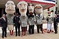 The Washington Nationals' presidential mascots and official mascot, Screech, pose for a photo with, from left, Secretary of the Army John McHugh, Vice Chief of Staff of the Army Gen. Lloyd Austin and Chairman 120614-A-TT930-006.jpg
