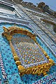 The architectural work on walls of Shrine of Sachal Sarmast .jpg