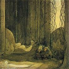 Bland Tomtar och Troll, dell'artista svedese John Bauer, 1913