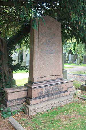 John Miller (engineer) - The grave of John Miller of Leithen, Dean Cemetery