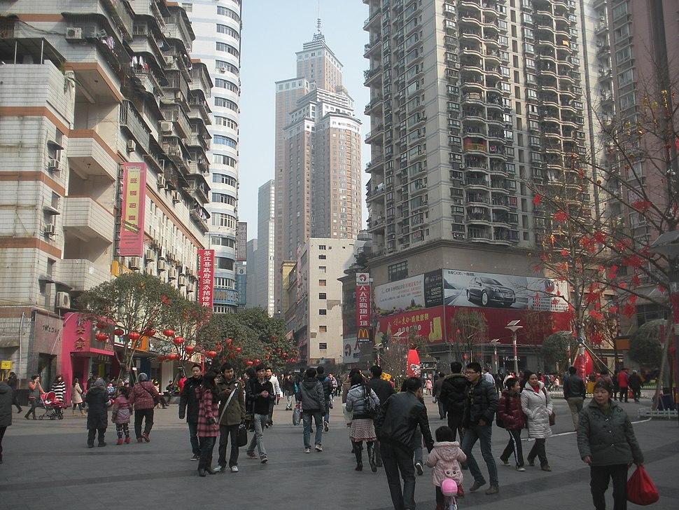 The pedestrian mall in Nanping District,Chongqing