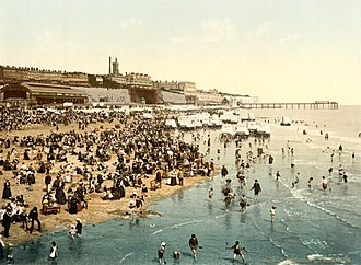 Ramsgate - Photochrom of The sands, 1899