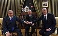 The tripartite meeting between Rivlin Netanyahu and Gantz, September 2019 (Haim Zach GPO 1).jpg