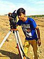 Theodolite-Student using Theodolite.(Jaydip Patel).jpg