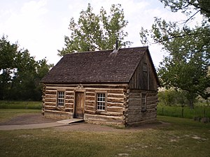 English: Theodore Roosevelt's Maltese Cross Cabin