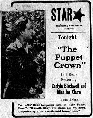 The Puppet Crown - Newspaper advertisement