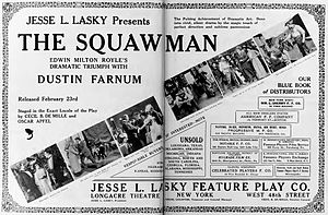 The Squaw Man (1914 film) - Contemporary magazine advertisement.