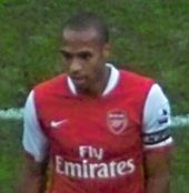 A footballer in action for Arsenal F.C.