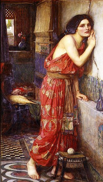 Pyramus and Thisbe - Thisbe, by John William Waterhouse, 1909.